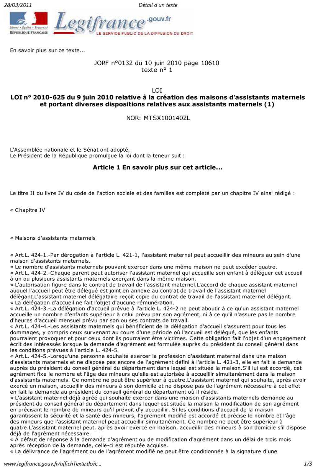 Loi sur la création MAM Loi-page-1-271a950