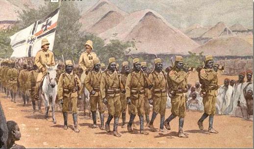 Les colonies allemandes : Deutsch Öst Afrika  Askaris-291b7e6