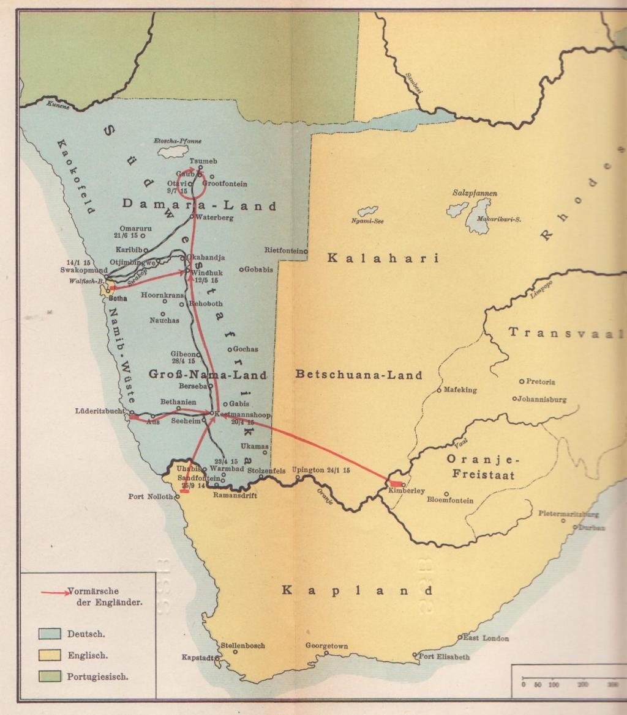 La guerre dans les colonies allemandes : Süd-West Afrika S-dwestafrika_1915-2a23889