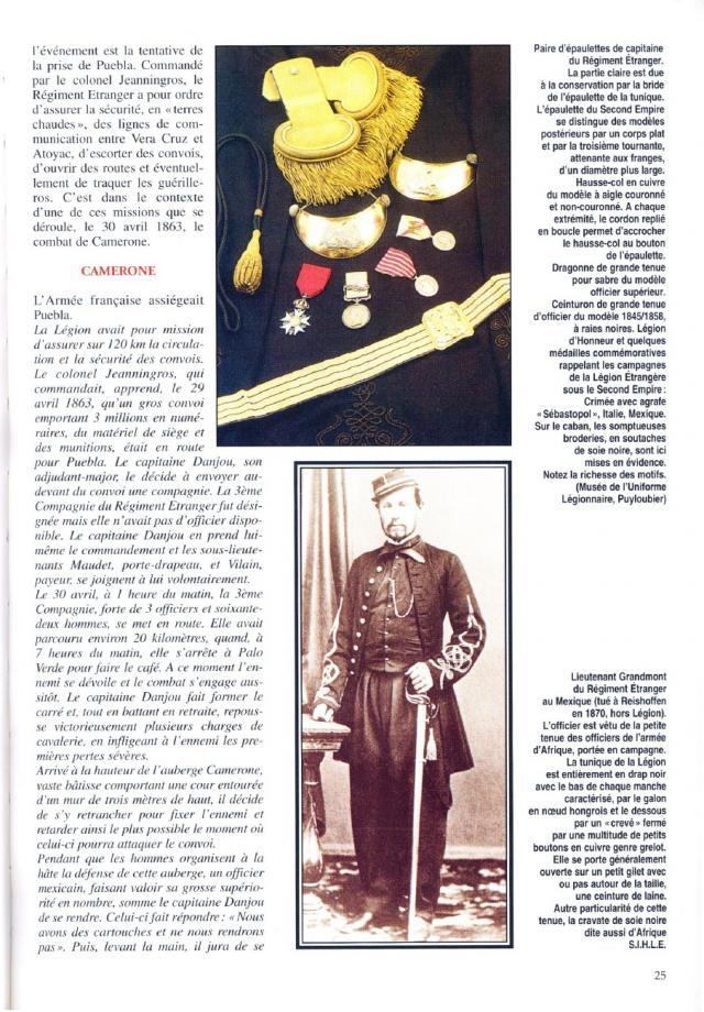 """l heure de la legende """"Legio Patria Nostra Mexique 1863 """" 12-lieut-grandmont-41cf02f"""