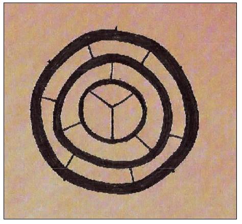 Étranges traces circulaires cutanées.  Signe-31c-414a56c