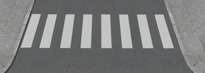 Straßenmarkierungen - v1.4 Zebra