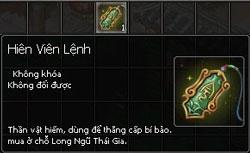 [Thảo Luận] Tài Nguyên Mới Kiếm Thế - Thanh Long Bảo Hạp HienVienLenh