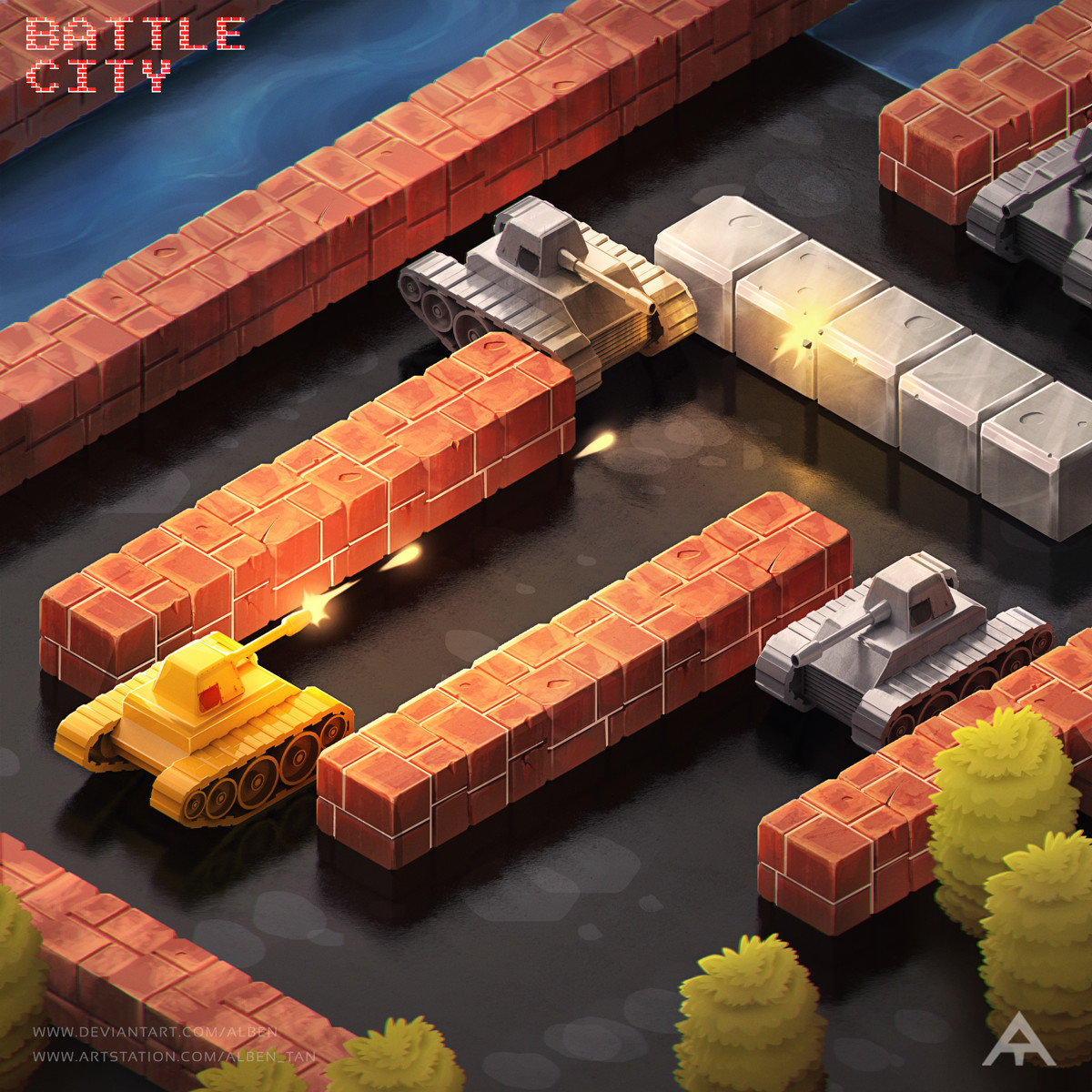 Battle City %D0%98%D0%B3%D1%80%D1%8B-battle-city-%D0%B0%D1%80%D1%82-Alben-Tan-5452248