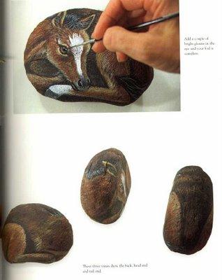 Рисунки на камнях. Мастер-класс 46630313_painting_more_animals_on_rocks_87