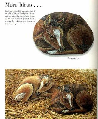 Рисунки на камнях. Мастер-класс 46630332_painting_more_animals_on_rocks_88