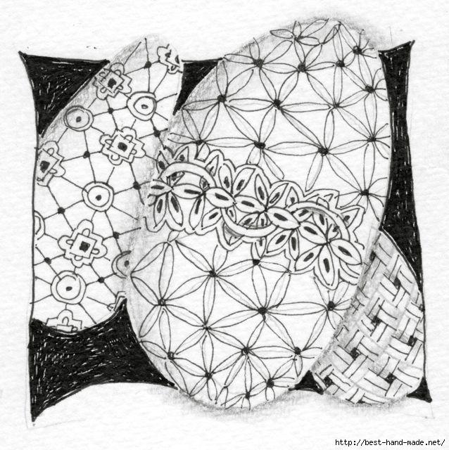 Zentangle Easter egg one (638x640, 253Kb)