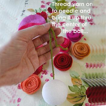 Украшение из роз (фетр) 39112293_89913