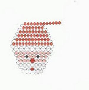 Изящные новогодние украшения из бисера 51362684_ded