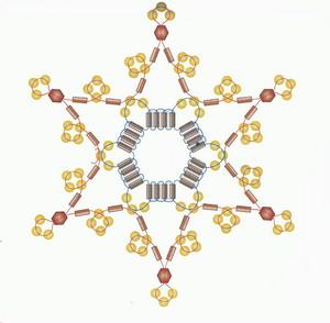 Изящные новогодние украшения из бисера 51362829_zv8