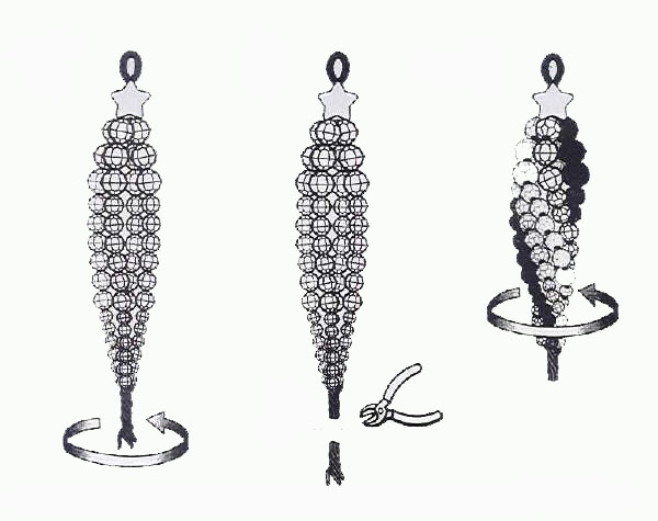 Изящные новогодние украшения из бисера 51362900_cristal