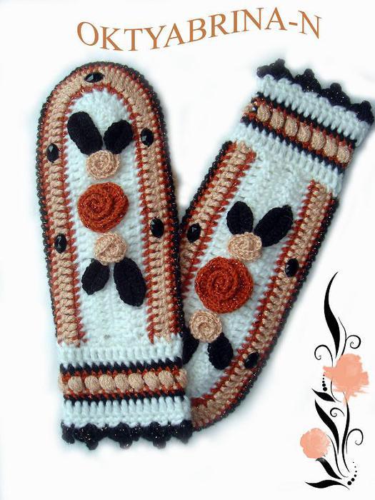 Идеи для вязания варежек крючком 54544953_Varezhki2