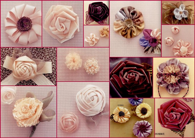 Изготовление цветов из лент. 57674005_1271061520_cvetuy