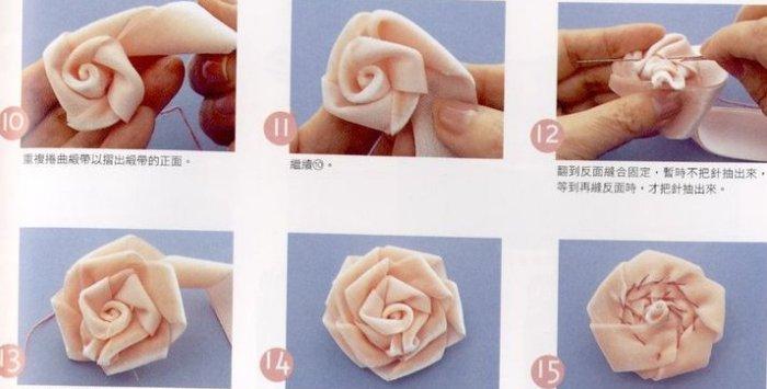 Изготовление цветов из лент. 57674021_1271062387_0251