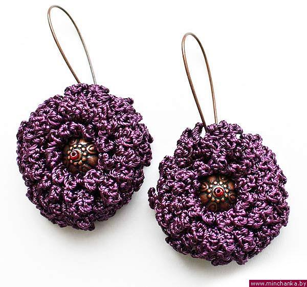 Серьги.... 60123313_flowers1_00