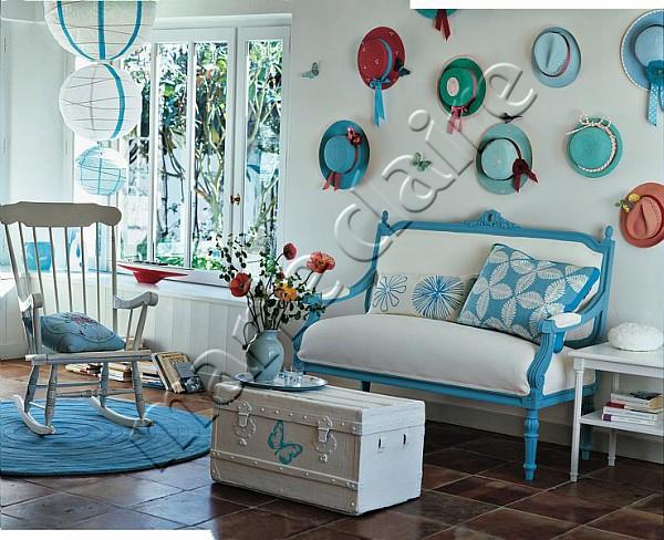 Голубой,бирюзовый,синий в декоре 62957369_wall65