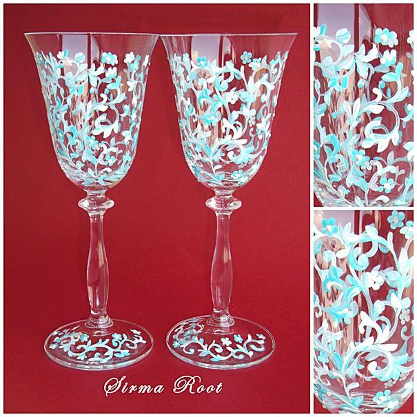 Красивые бокалы к новогоднему столу 67369532_6