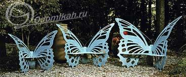 Ажурные садовые скамейки в виде бабочек 67758097_12