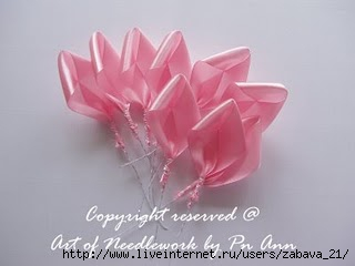 Розы из лент. МК. 70542248_Bunga6