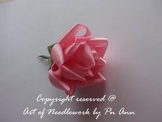 Розы из лент. МК. 70542365_Bunga9