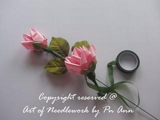 Розы из лент. МК. 70542421_Bunga10
