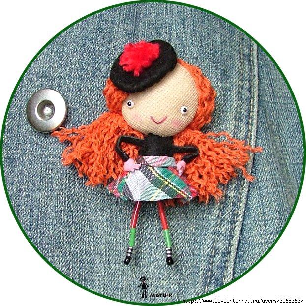 Куклята-броши 71482256_tuki_scottish_girl