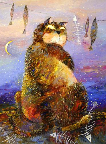 Прикольные истории о котах 64359788_nochnoy_dozhor