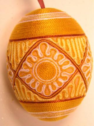 Пасхальные яйца из ткани, лент, джута.... 84857406_krasliciarky065otoc1