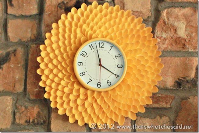 Креативное решение - декор 93412034_spoon_clock
