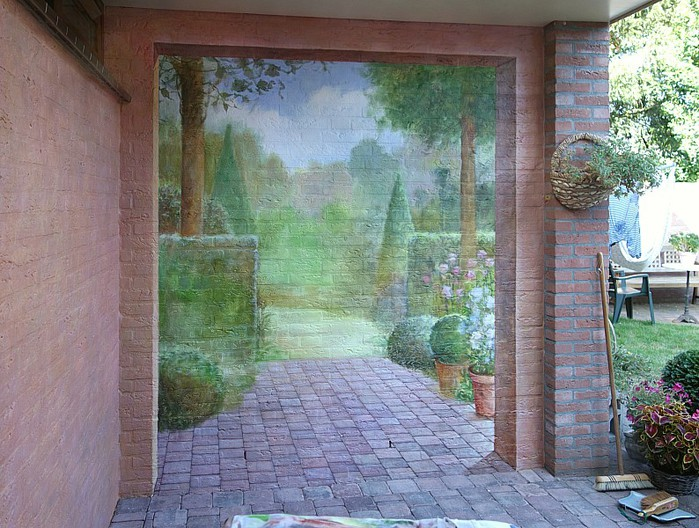 Роспись стен. Роспись-обманка от бельгийского художника VAN HOEF 97653276_rospis_stenuyobmanka__16_