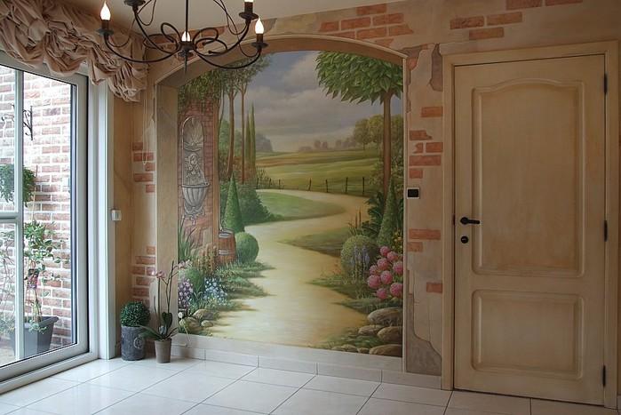 Роспись стен. Роспись-обманка от бельгийского художника VAN HOEF 97653696_1