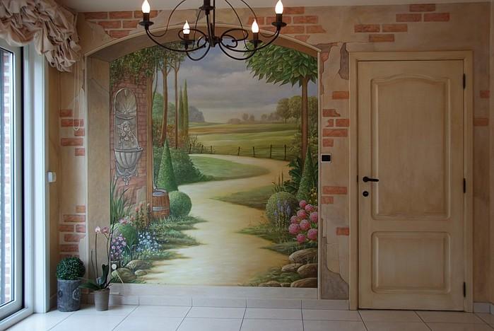 Роспись стен. Роспись-обманка от бельгийского художника VAN HOEF 97653698_3