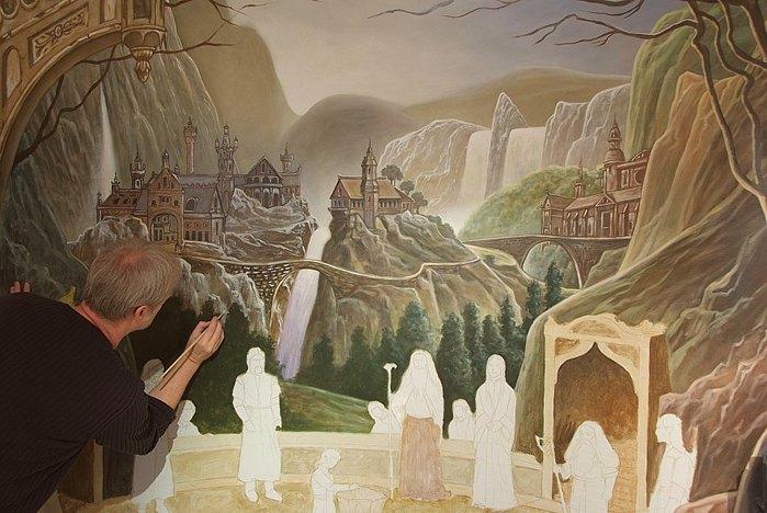 Роспись стен. Роспись-обманка от бельгийского художника VAN HOEF 97653702_7