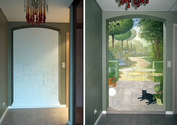 Роспись стен. Роспись-обманка от бельгийского художника VAN HOEF 97653714_22