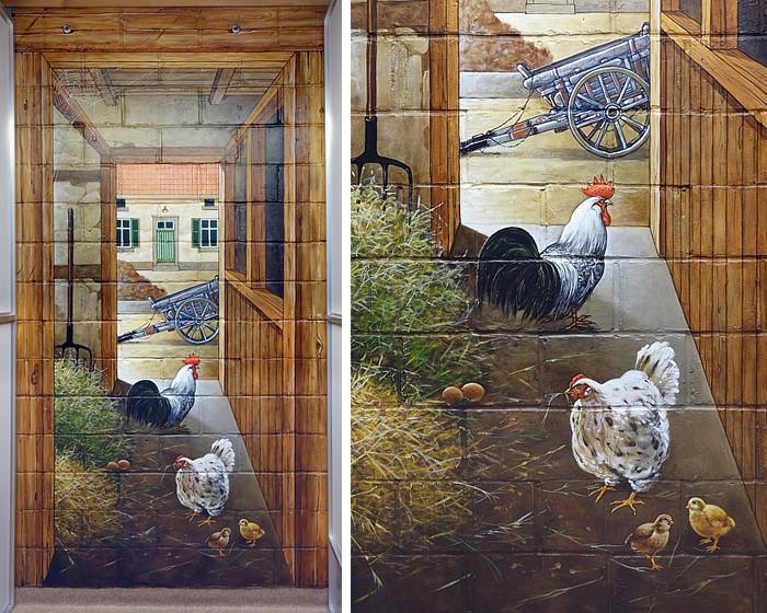 Роспись стен. Роспись-обманка от бельгийского художника VAN HOEF 97653724_38
