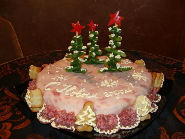 Фотоподборка оригинально оформленных новогодних салатов 108568580_getImage132