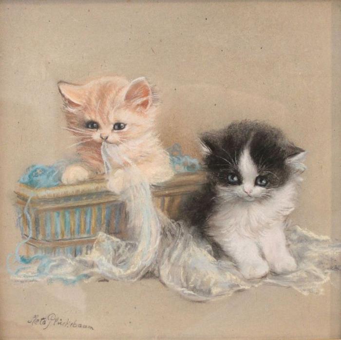 2ffac445f658fd26bd9e79445450378f--cat-paintings-cat-art (700x697, 376Kb)