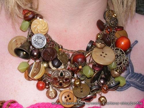 Поделки из пуговиц 4372482_mix-necklace