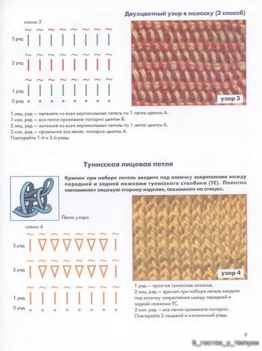 Книга: Тунисское вязание. Техника, узоры, модели. Т.П. Абизяева. 2832362_aa_0008