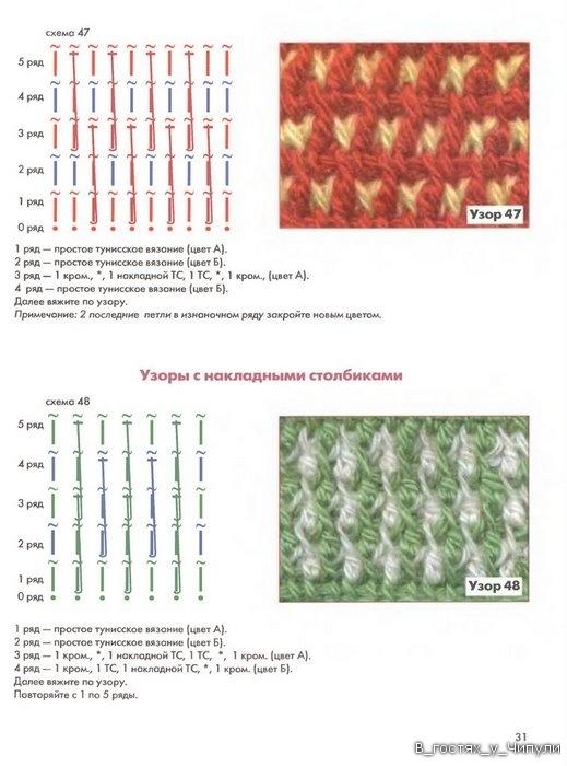 Книга: Тунисское вязание. Техника, узоры, модели. Т.П. Абизяева. 2832384_aa_0030
