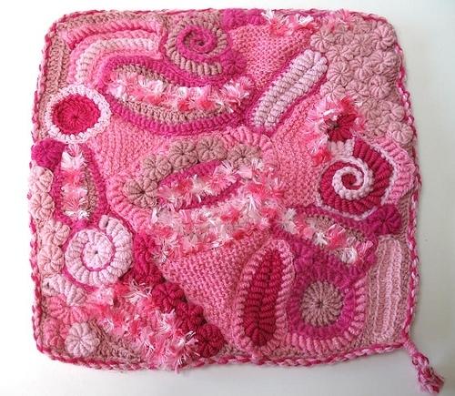 Вязаная прелесть! Розовый фриформ 3029888_3153151592_ffa13e6e6f