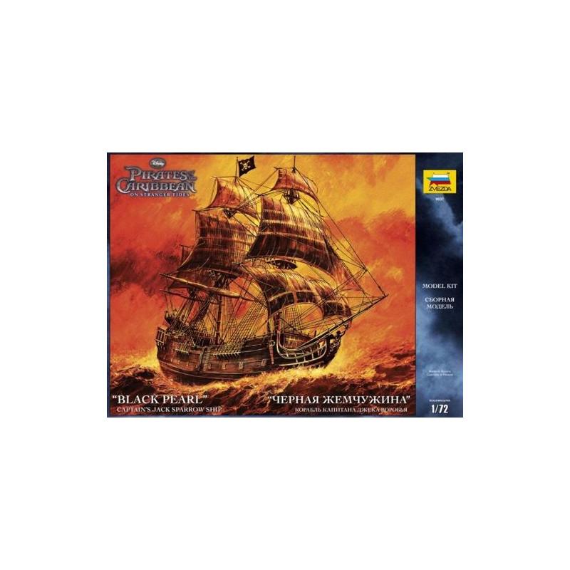 """Le """"Black Pearl"""" de Zvezda the Jack Sparrow ship au 1/72 Zvezda-9037-black-pearl"""