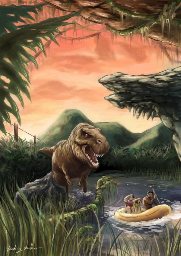 Visualize the Novels  Jurassic_park_by_puggdogg-d6ko483