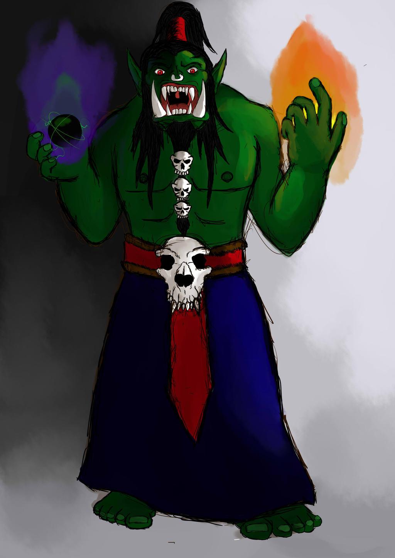 Krom/Kromanoid Dark_shaman_orc_by_mckrom-d7wh0zk