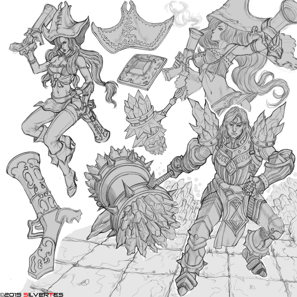 --- SilverTES Artworks --- League_of_legends___sketch_study_by_silvertes-d93kdwm