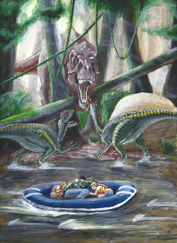 Visualize the Novels  Jurassic_park_novel_illustration__2_by_eatalllot-d9xci96