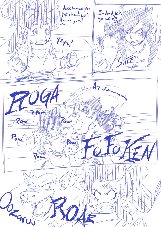 Rage(VX)'s Tekenachterbak - Pagina 12 Tenkaichi_budokai___taki_vs_jiuniang_page_2_by_ragevx-d8u7w2z