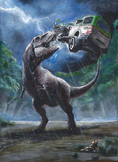 Visualize the Novels  Jurassic_park_novel_illustration_by_eatalllot-d9xchc4