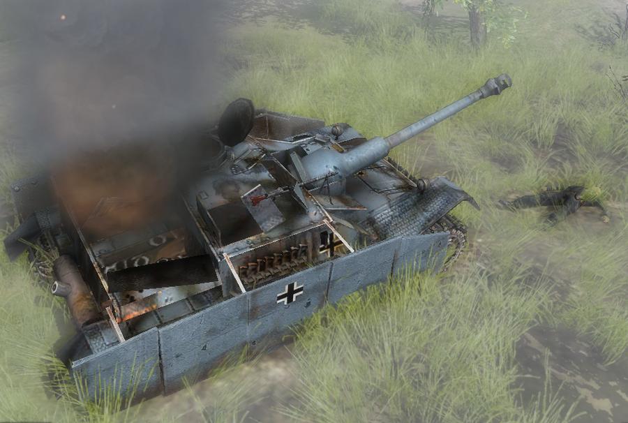 Stug-III acabado de ser impactado (imagen de la semana). Stug_destroyed_by_joseph_mnbc-d55xld3