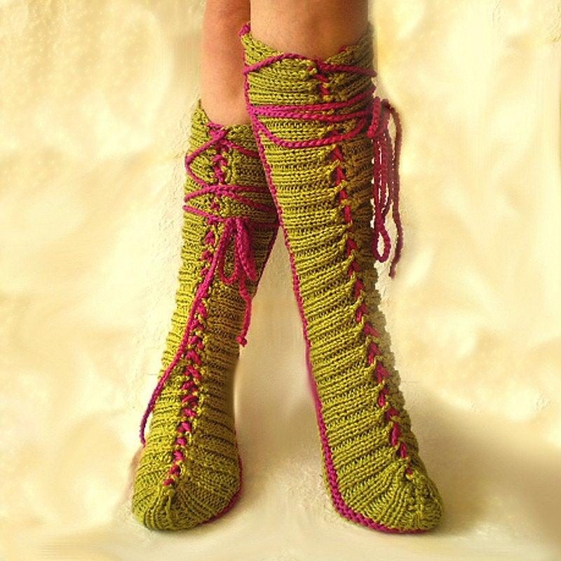 Provocare tricotat nr. 1 - Şosete, botoşei, jambiere. Il_fullxfull.50184401